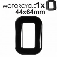 Letter O 3D Gel MOTORCYCLE MOTORBIKE BIKE number plates Black Domed Resin Making DIY Registration UK REG