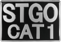 Abnormal Load STGO CAT 1 Marker Board 300mm x 200mm Truck Novelty Pressed Aliuminium Plate