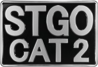 Abnormal Load STGO CAT 2 Marker Board 300mm x 200mm Truck Novelty Pressed Aliuminium Plate