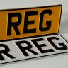 1x White 2x Yellow Pressed Number Plates 3D Metal Aliuminium Car Van MOT REG UK Road Legal 100% - 1x White 2x Yellow Pressed Number Plates 3D Metal Aliuminium Car Van MOT REG UK Road Legal 100%