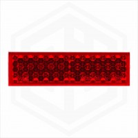 Red 65mm x 19mm Rectangular Stick On Self Adhesive Car Trailer Caravan Rear Reflector