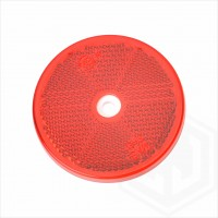 Red 60mm Round Screw On Car Trailer Caravan Rear Reflector with Mounting Hole