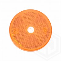 Amber Orange 60mm Round Screw On Car Trailer Caravan Side Reflector with Mounting Hole
