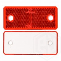 Red 96mm x 42mm Rectangular Screw On Car Trailer Caravan Rear Reflector with Mounting Holes