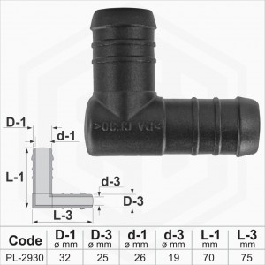 32x25 mm L-Piece Reducer Plastic Barbed Connector Joiner Tube Hose Pipe Fitting 32x25 mm L-Piece Reducer Plastic Barbed Connector Joiner Tube Hose Pipe Fitting