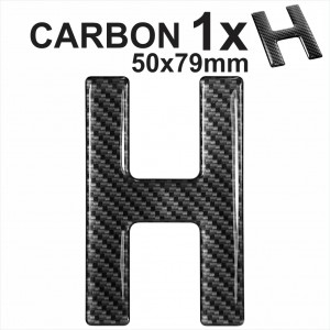CARBON Letter H 3d gel number plates Domed Resin Making DIY Registration UK REG