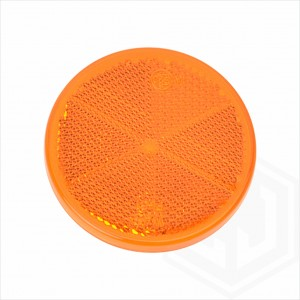 Amber Orange 60mm Round Stick On Self Adhesive Car Trailer Caravan Side Reflector