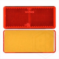 Red 96mm x 42mm Rectangular Stick On Self Adhesive Car Trailer Caravan Rear Reflector