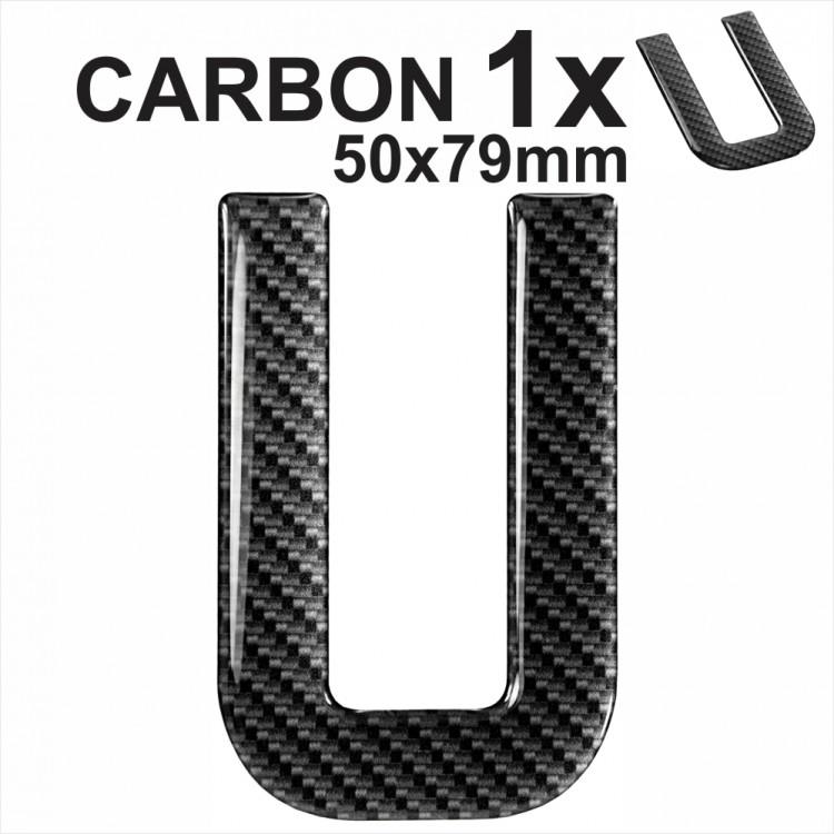 3d Letter Diy.Carbon Letter U 3d Gel Number Plates Domed Resin Making Diy Registration Uk Reg