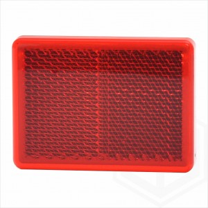 Red 55mm x 40mm Rectangular Stick On Self Adhesive Car Trailer Caravan Rear Reflector