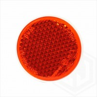 Amber Orange 85mm Round Stick On Self Adhesive Car Trailer Caravan Side Reflector