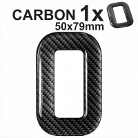 CARBON Number 0 3D gel number plates Domed Resin Digit Making DIY Registration UK REG