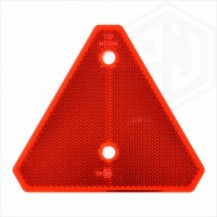 Red 150mm x 125mm Reflective Triangle Pointed Edges Removed Reflector For Trailer Caravan Gate Post