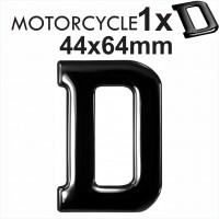 Letter D 3D Gel MOTORCYCLE MOTORBIKE BIKE number plates Black Domed Resin Making DIY Registration UK REG