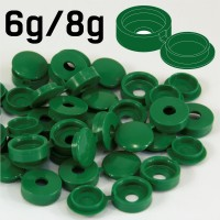 Dark Green Hinged Plastic Screw Cover Caps (Small, 6/8g) 5 PACK SIZES