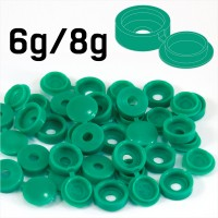 Light Green Hinged Plastic Screw Cover Caps (Small, 6/8g) 5 PACK SIZES