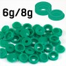 Light Green Hinged Plastic Screw Cover Caps (Small, 6/8g) 5 PACK SIZES - Light Green Hinged Plastic Screw Cover Caps (Small, 6/8g) 5 PACK SIZES