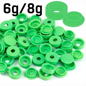 Grass Green Hinged Plastic Screw Cover Caps (Small, 6/8g) 5 PACK SIZES