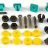 21x NUMBER PLATE CAR Motorcycle FIXING SECURITY SCREWS & CAPS HINGED PLASTIC KIT - 21x NUMBER PLATE CAR Motorcycle FIXING SECURITY SCREWS & CAPS HINGED PLASTIC KIT