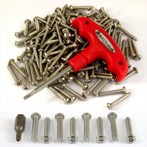 103 Piece Number plate security stainless steel screws KIT 100 SCREWS TORX BIT