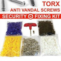503 pcs. Number plate security stainless steel screws and caps TR15 TORX bit tool