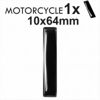 Number 1 3D Gel MOTORCYCLE MOTORBIKE BIKE digit number plates Black Domed Resin Making DIY Registration UK REG