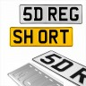 5 Digit Short 360x110 Pressed number plates metal ALU embossed car UK 100% Road Legal - 5 Digit Short 360x110 Pressed number plates metal ALU embossed car UK 100% Road Legal